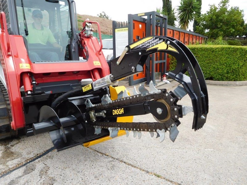 digga bigfoot 900 hydraulic trencher - 900mm dig depth suit skid steer loaders.[atttren] 384563 035