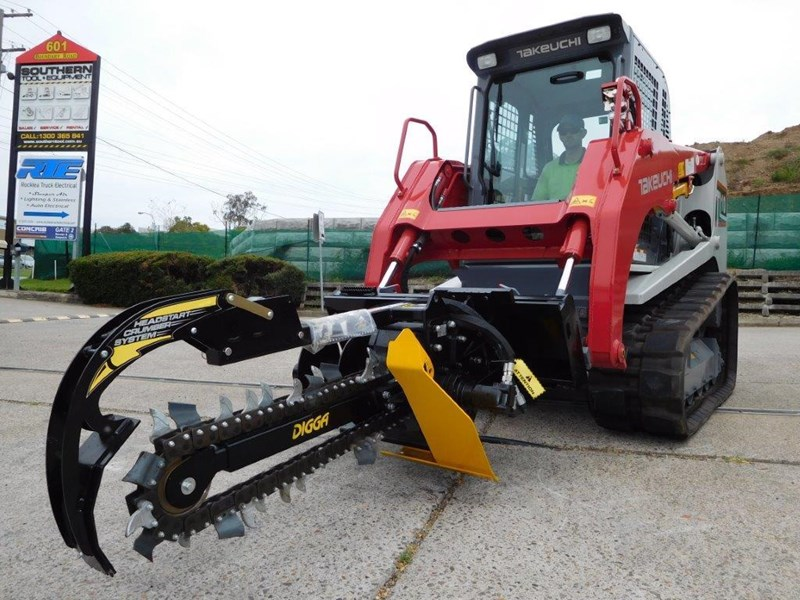 digga bigfoot 900 hydraulic trencher - 900mm dig depth suit skid steer loaders.[atttren] 384563 037