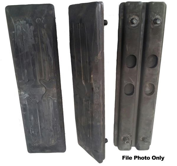 various clip on rubber track pads 391295 001