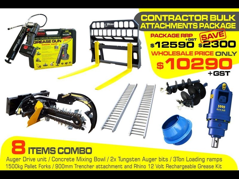auger torque [special deal] grease gun - contractors bulk attachments package [8 items] [attcombo] 237150 001