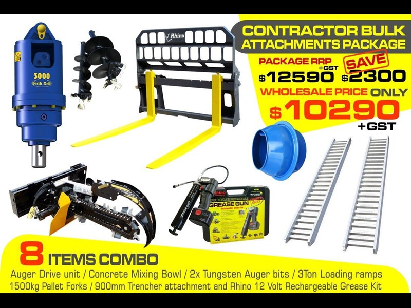 auger torque [special deal] grease gun - contractors bulk attachments package [8 items] [attcombo] 237150 003