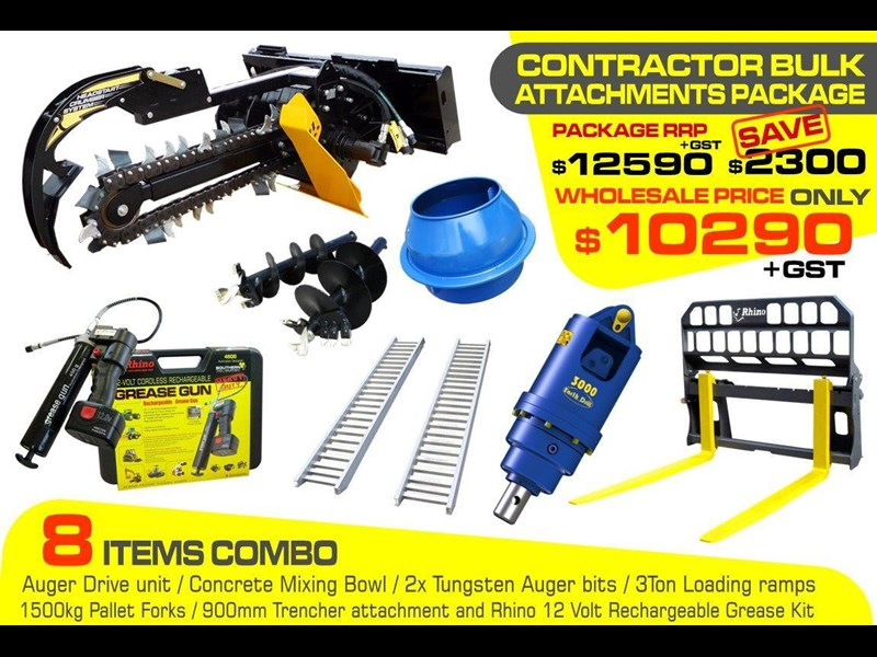 heavy duty [special deal] trencher - contractors bulk attachments package [8 items] [attcombo] 237132 001