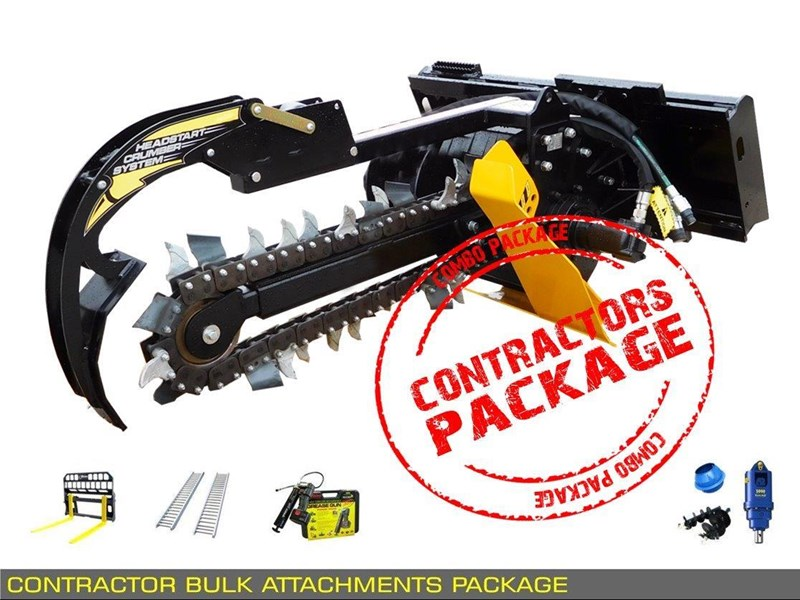 heavy duty [special deal] trencher - contractors bulk attachments package [8 items] [attcombo] 237132 005