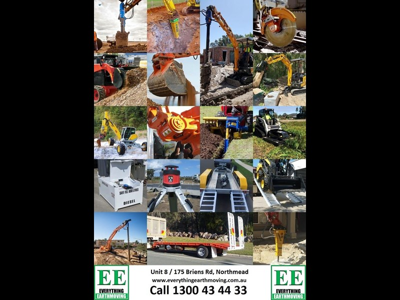 everything earthmoving trailer to suit 3-4 combo or single machine to 8 tonnes brand new 356961 099