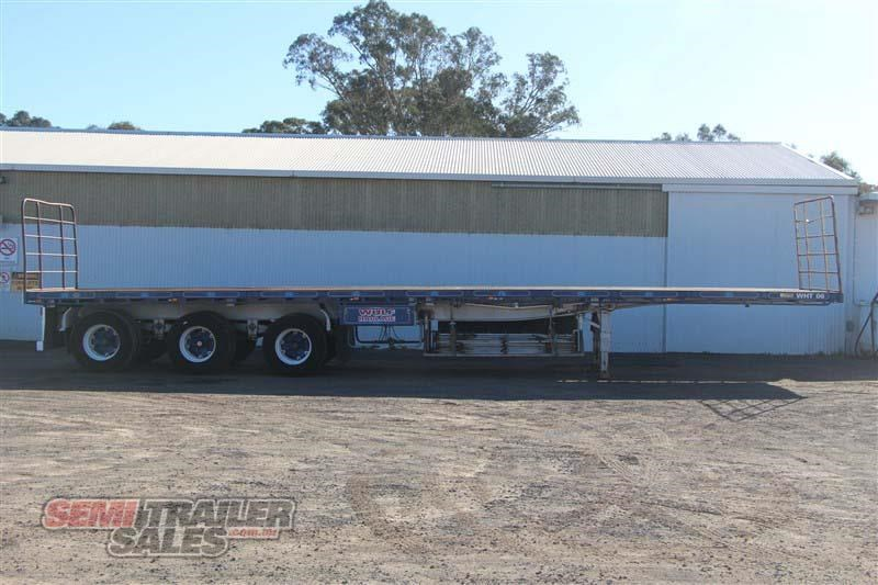 maxitrans 45ft flat top semi trailer with 3 way pins 393338 001