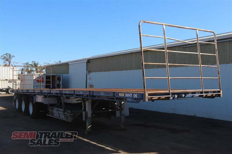 maxitrans 45ft flat top semi trailer with 3 way pins 393338 002