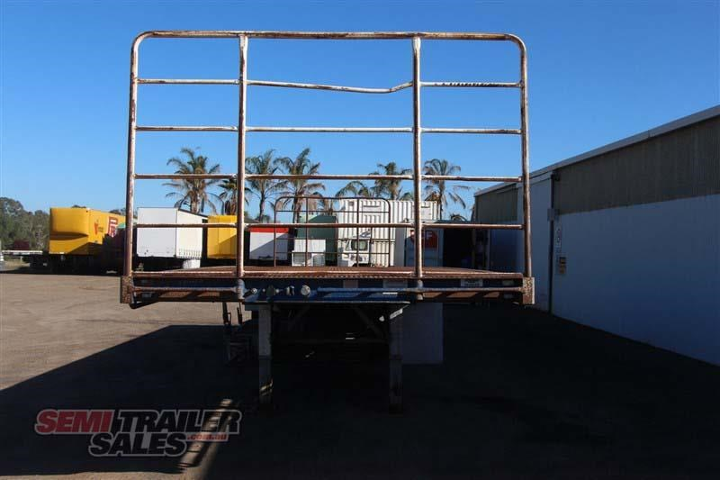 maxitrans 45ft flat top semi trailer with 3 way pins 393338 004