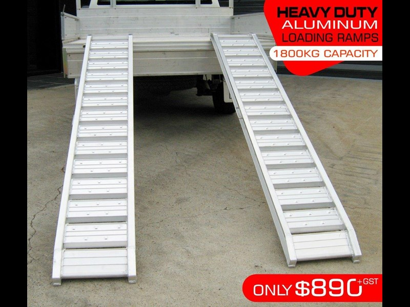 rhino 1800.kg aluminium loading ramps - kanga / dingo / bobcat / skid steer loading ramps [attramp] 394515 003