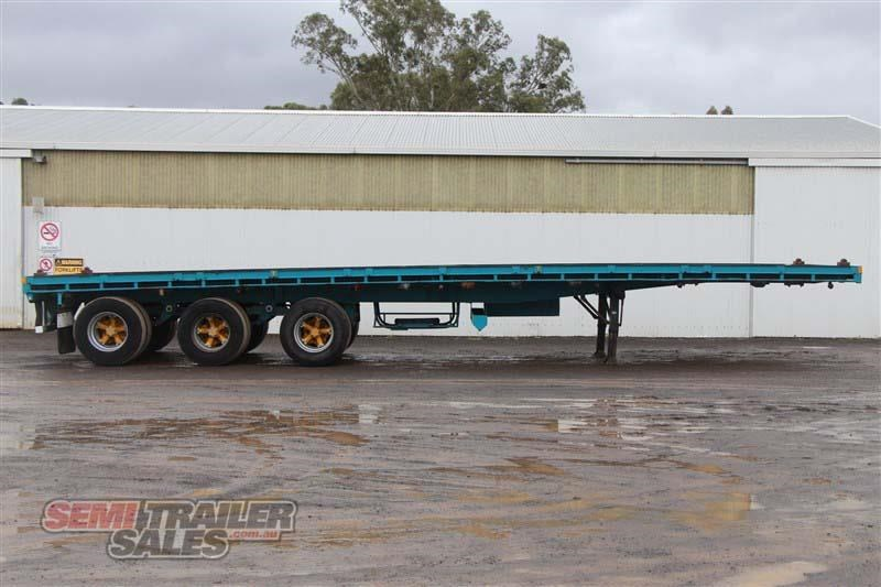 consultrans 40ft 8 inch flat top semi trailer with 3 way pins 394626 001