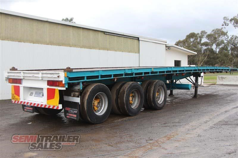 consultrans 40ft 8 inch flat top semi trailer with 3 way pins 394626 003