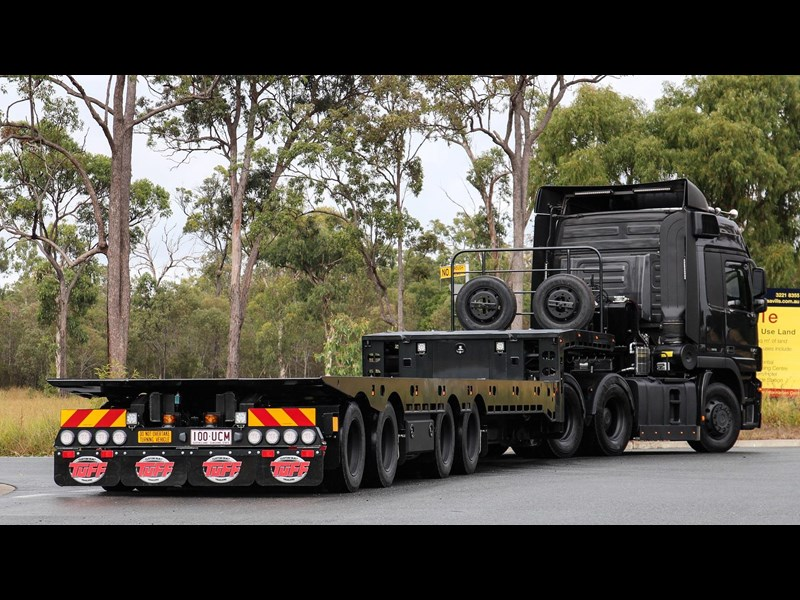 tuff trailers 3x4 or 4x4 drop deck / fixed width or deck widening / tilt 'n' slide - super tilt 398286 013