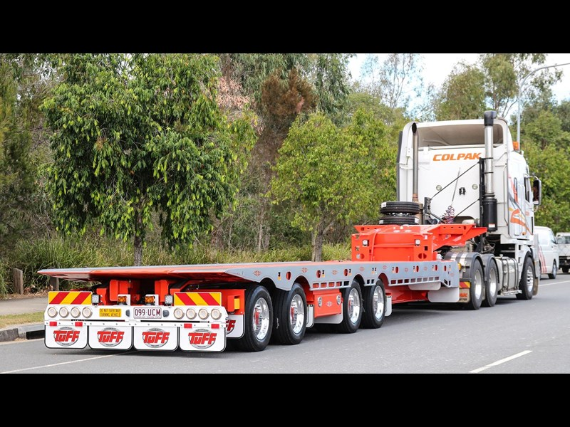 tuff trailers 3x4 or 4x4 drop deck / fixed width or deck widening / tilt 'n' slide - super tilt 398286 029