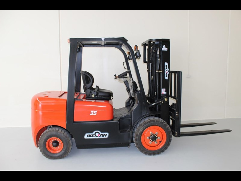 wecan diesel forklift with 3 stage container mast 403386 003
