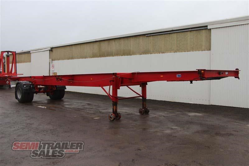 freighter 40ft skel semi trailer with 3 way pins 406776 002