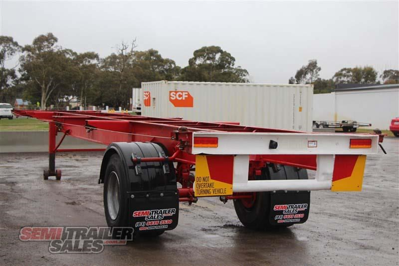 freighter 40ft skel semi trailer with 3 way pins 406776 012