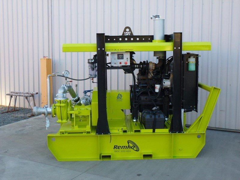 remko heavy duty diesel driven sand/sludge/slurry pump package 408395 011