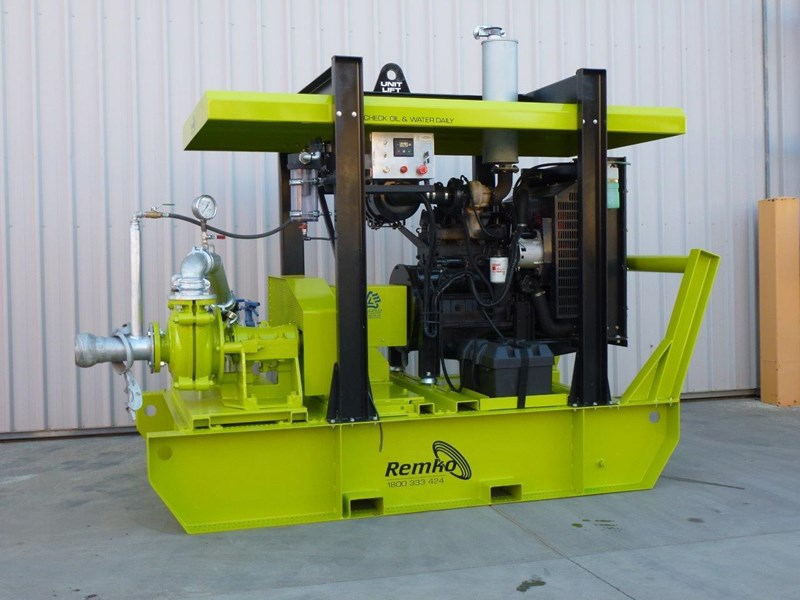 remko heavy duty diesel driven sand/sludge/slurry pump package 408395 045