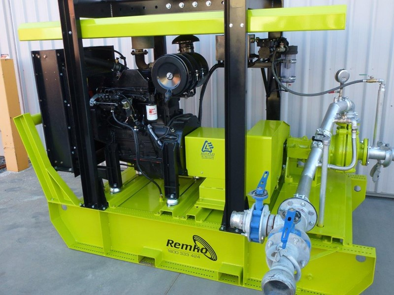 remko heavy duty diesel driven sand/sludge/slurry pump package 408395 059