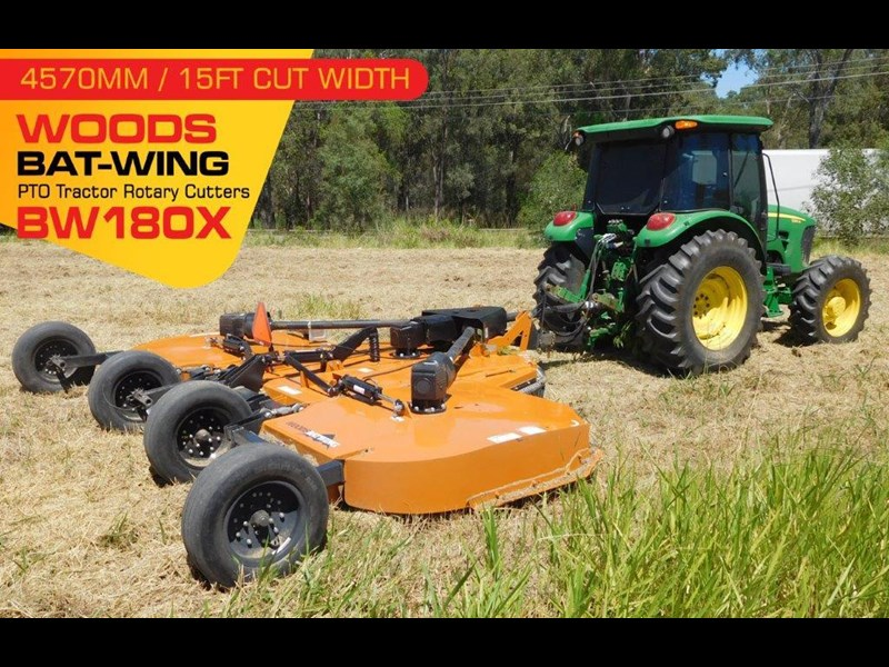 woods equipment woods 15ft / 4571mm pto tractor rotary cutters [bw180x] [attpto] 331877 001
