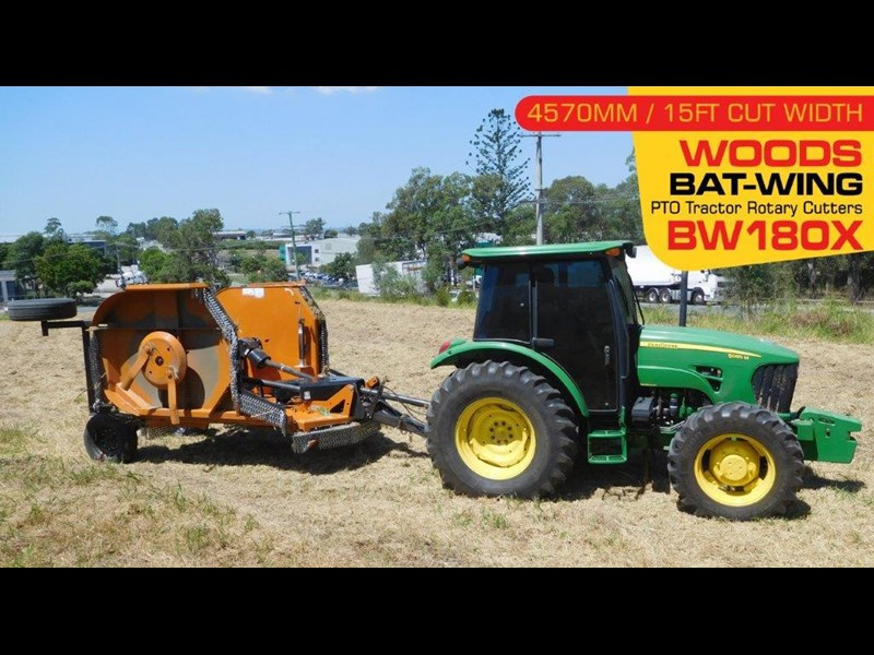 woods equipment woods 15ft / 4571mm pto tractor rotary cutters [bw180x] [attpto] 331877 003