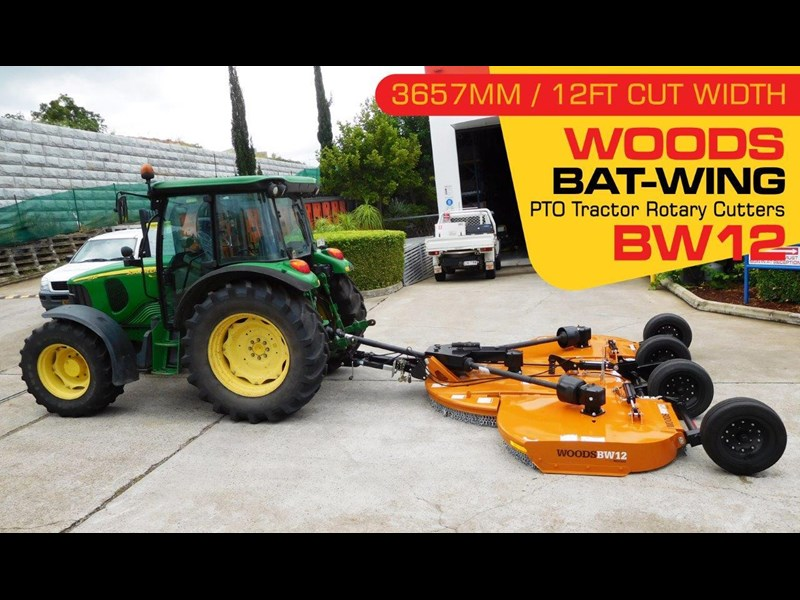 woods equipment 12ft / 3657mm pto tractor rotary cutters [bw12] [attpto] 334418 002