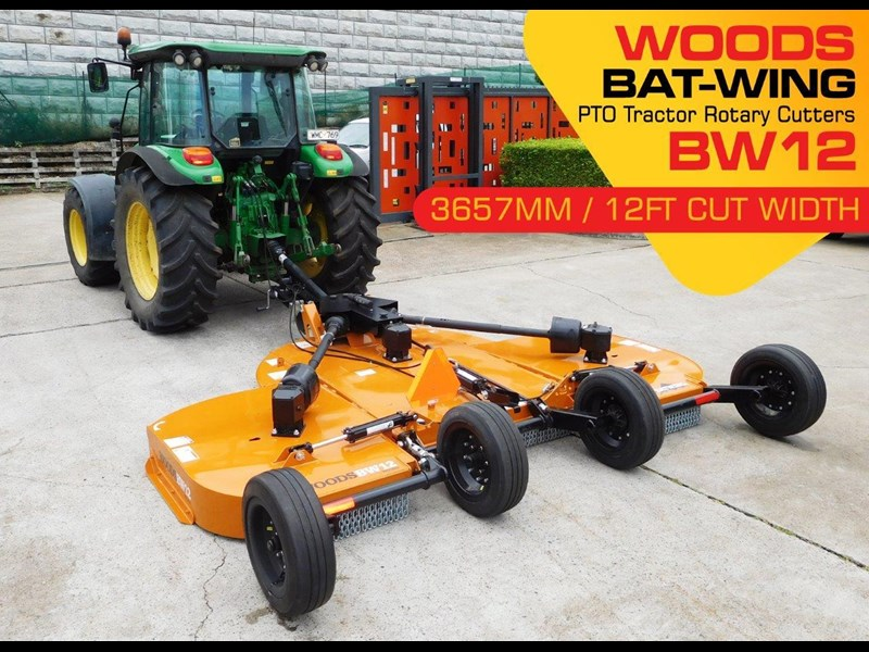 woods equipment 12ft / 3657mm pto tractor rotary cutters [bw12] [attpto] 334418 005