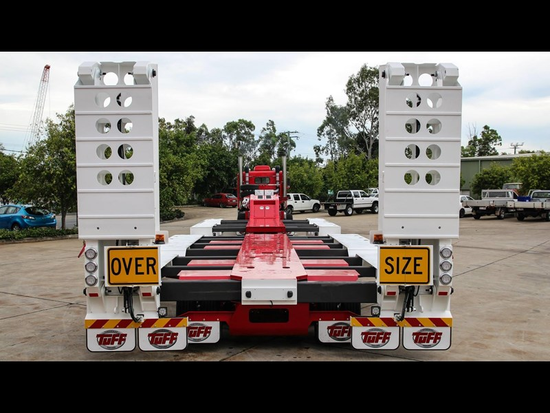 tuff trailers 3x4 or 4x4 drop deck/ low loader / deck widening float / 4.5m ag widening trailer 398283 003