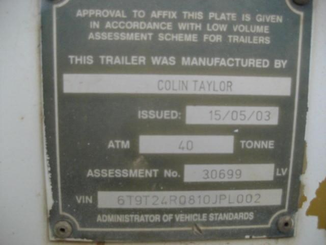 colin taylor tri-axle low loader / float 410492 011