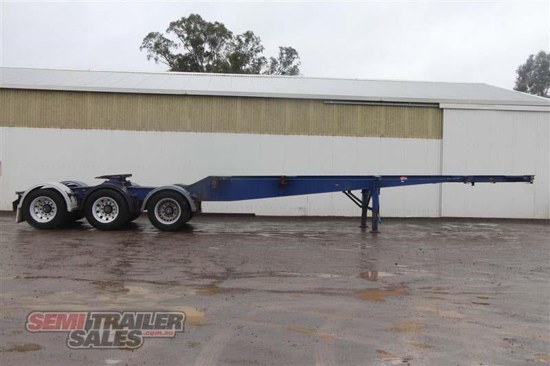 barker 20ft skel semi a trailer with 2 way pins 411545 001