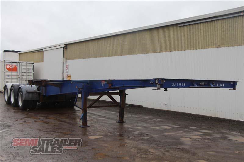 barker 20ft skel semi a trailer with 2 way pins 411545 002