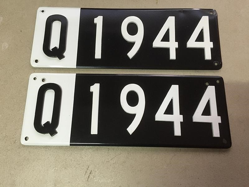 number plates personalised 412670 001