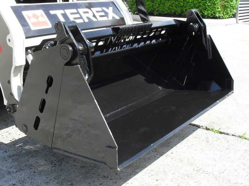 rhino 4 in 1 bucket - buckets to suit bobcat s70 mini skid steer [1120 mm] [attbuck] 413102 005