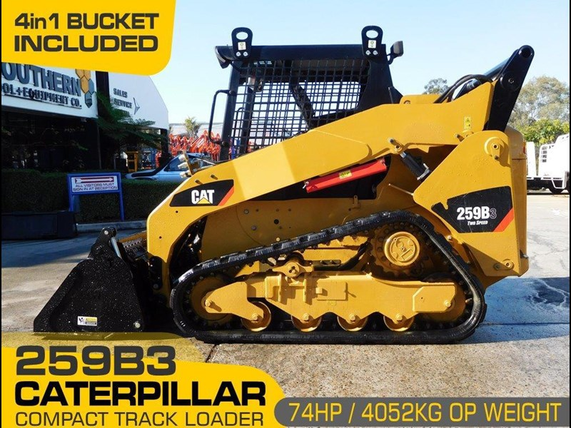 caterpillar #2235b 259.b3 cat 259b.3 compact track loader [74 hp] [only 295 hours] [machcat] 414016 001