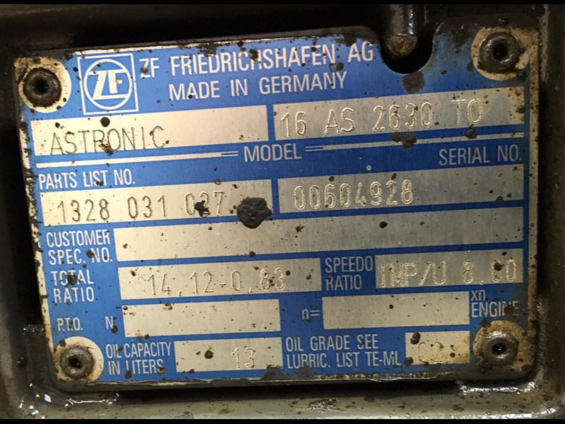 zf transmissions 16as2630 415655 003