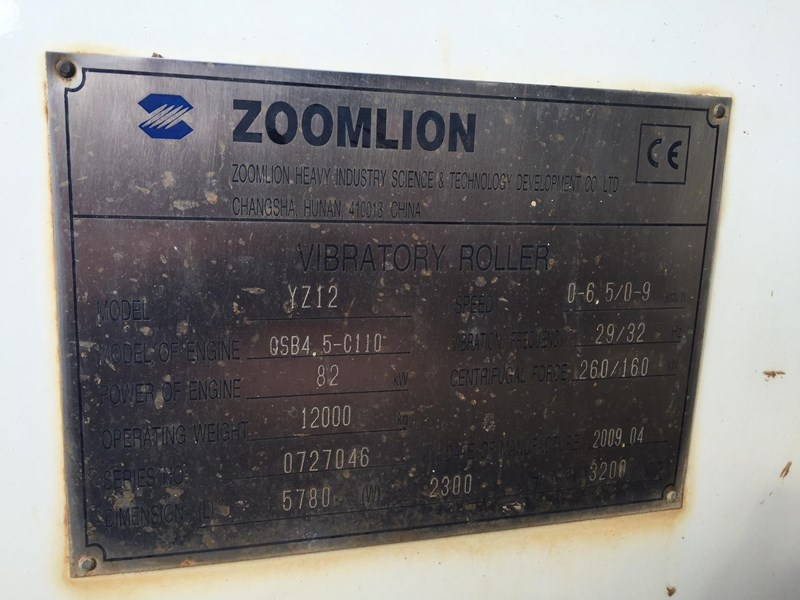 terex zoomlion yz12 416802 015