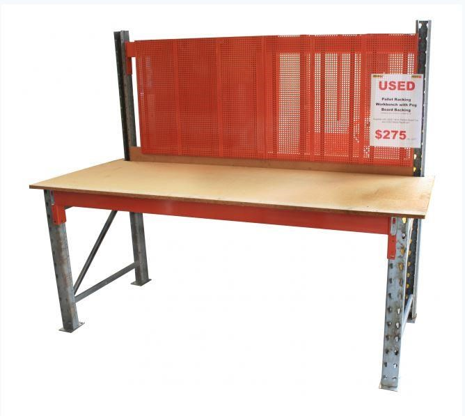 work benches steel frame - pegboard backing - 2450 w x 910d - workbench 418683 001