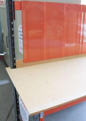 work benches steel frame - pegboard backing - 2450 w x 910d - workbench 418683 005