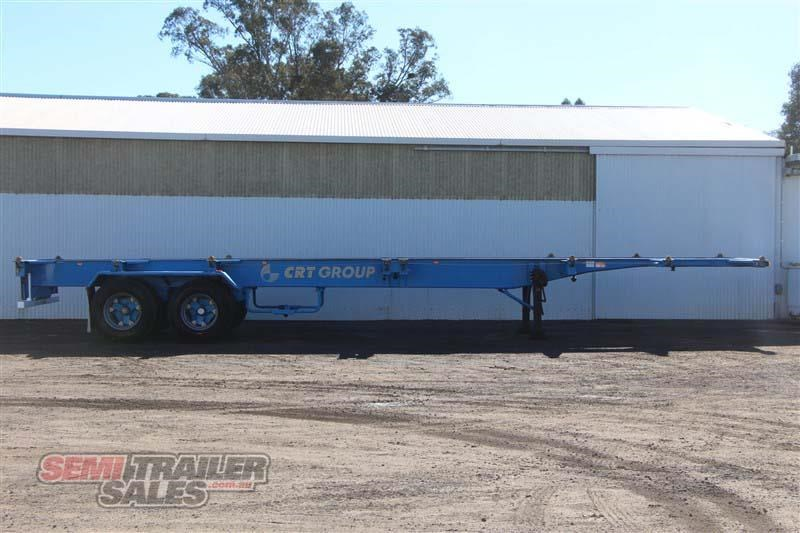 barker 40ft skel semi trailer with 4 way pins 419558 001
