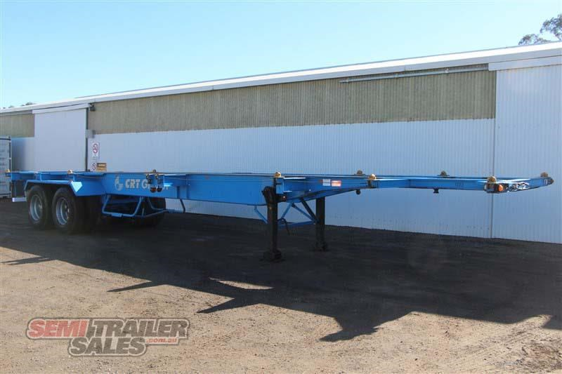 barker 40ft skel semi trailer with 4 way pins 419558 002