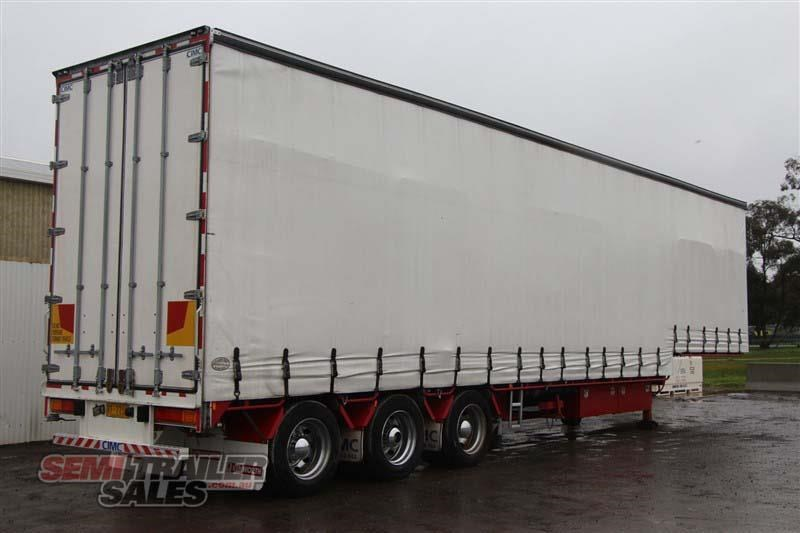 cimc 45ft drop deck curtainsider semi trailer with mezz decks 408769 003