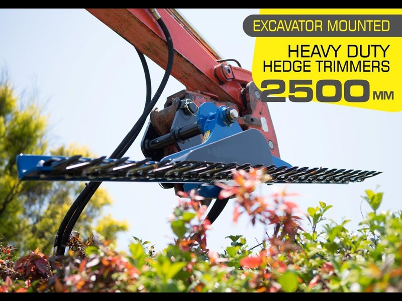 rhino hydraulic hedge trimmers. 2500 mm suit 1.5t to 8.0t excavators [hc250][atttrim] 419971 001