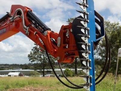 rhino hydraulic hedge trimmers. 2500 mm suit 1.5t to 8.0t excavators [hc250][atttrim] 419971 006
