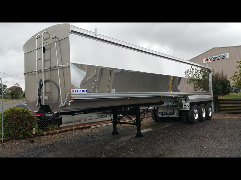 tefco new 36' x 6' aluminium grain spec trailer. 297584 003