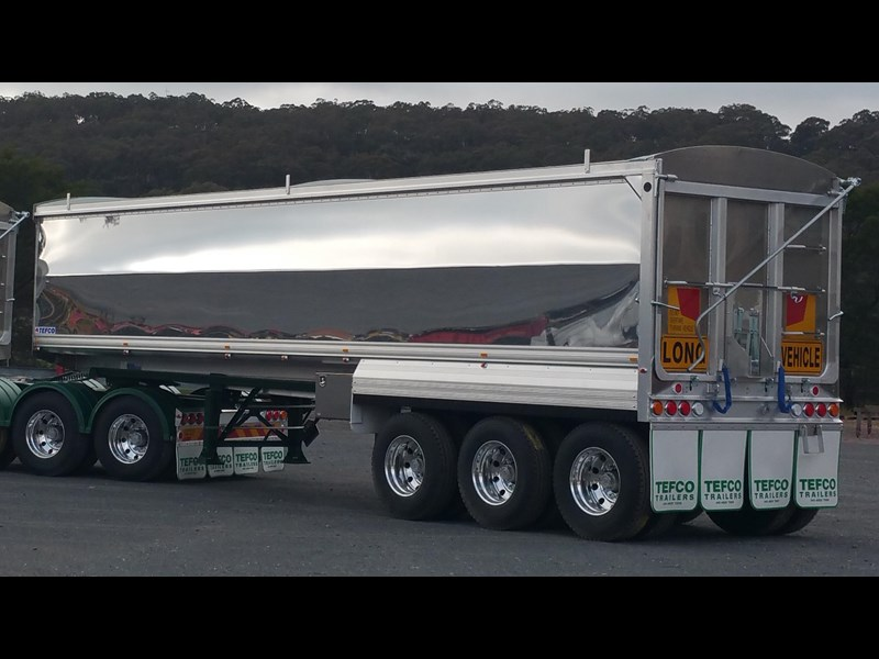 tefco new 36' x 6' aluminium grain spec trailer. 297584 005