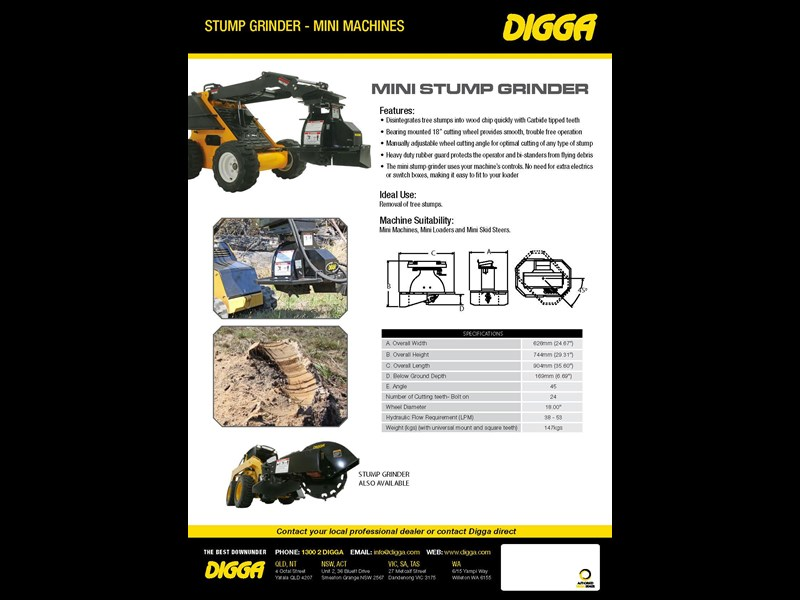 digga mini stump grinder 423174 009