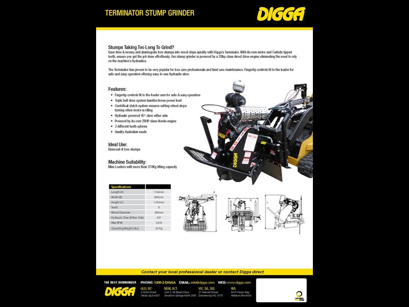 digga terminator mini stump grinder 423176 003