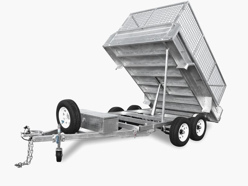 taipan 10×5 tandem axel flat top hydraulic tipper trailer 424395 001