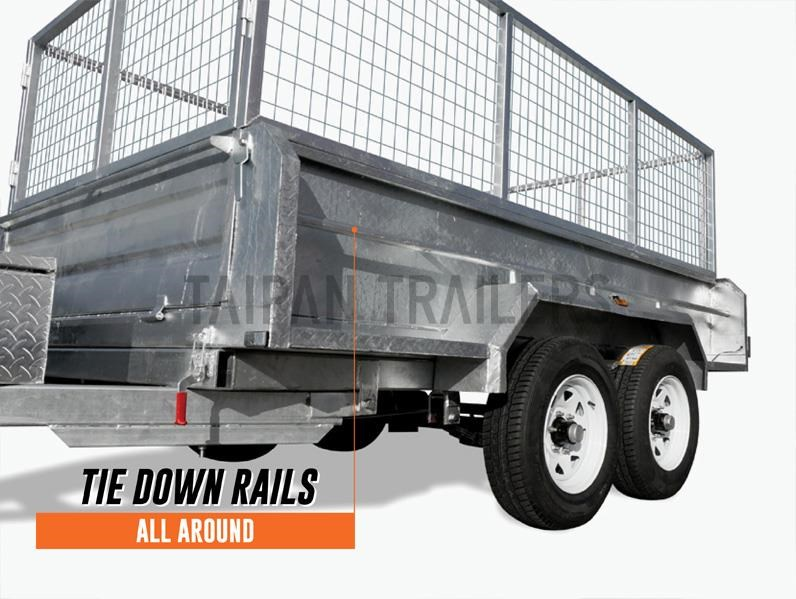 taipan 10×5 tandem axel flat top hydraulic tipper trailer 424395 008