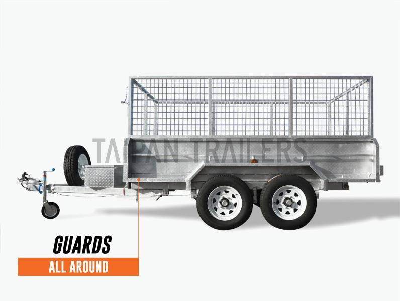 taipan 10×5 tandem axel flat top hydraulic tipper trailer 424395 012