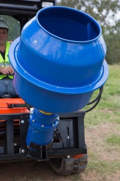 auger torque 180l cement mixer bowl (75mm square earth drill / auger shaft) [attaug] 424569 005